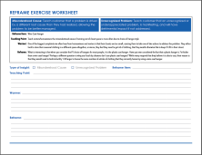 Reframe Exercise Worksheet