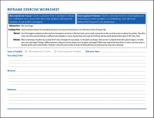 Reframe Exercise Worksheet